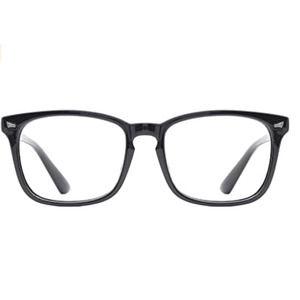 Black Stylish Square Clear Lens Eyeglasses Eyewear